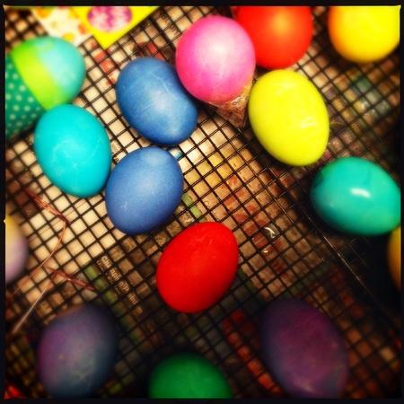 Huevos de Pascua Foto de archivo - 27611643