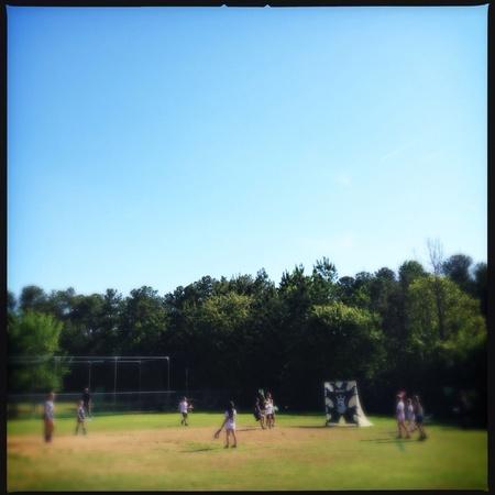 Las niñas del equipo de lacrosse en Georgia, EE.UU. Foto de archivo - 27815643