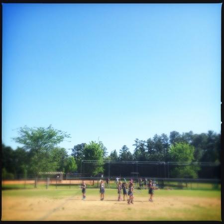 Las niñas del equipo de lacrosse en Georgia, EE.UU. Foto de archivo - 27815646