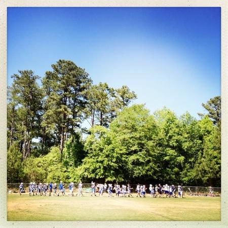 Muchachos equipo de lacrosse Foto de archivo - 28047886
