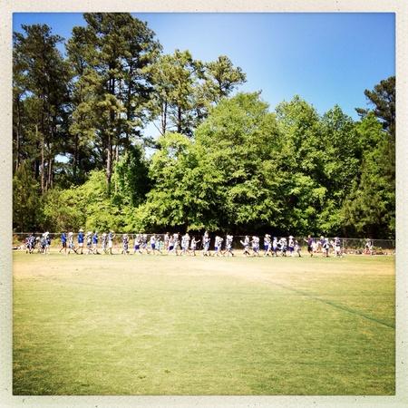 Muchachos equipo de lacrosse Foto de archivo - 28047894