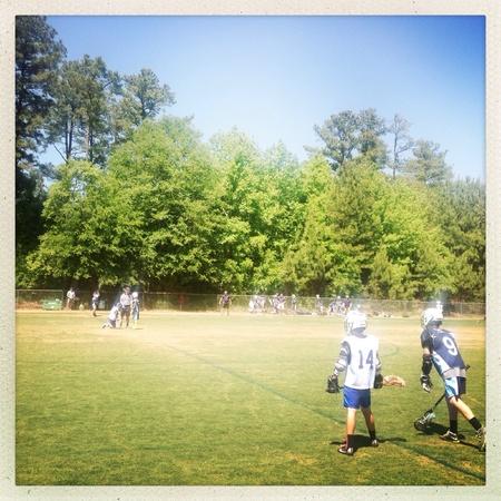 Muchachos equipo de lacrosse Foto de archivo - 28047908