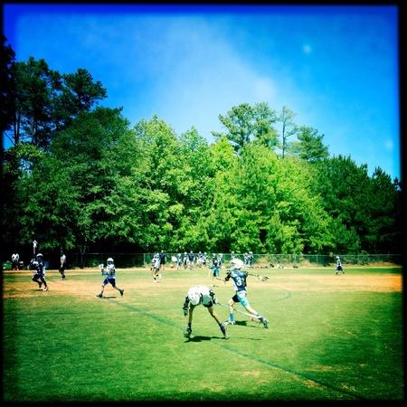 Muchachos equipo de lacrosse Foto de archivo - 28047917