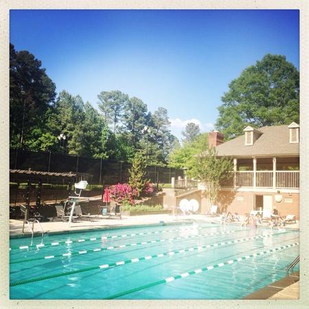 Suburban neighborhood pool