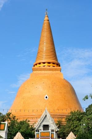 nakhon pathom: Phra Pathom Chedi,Nakhon Pathom,Thailand  Stock Photo