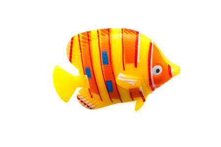 fish toy plastic colorful on isolated background Banque d'images
