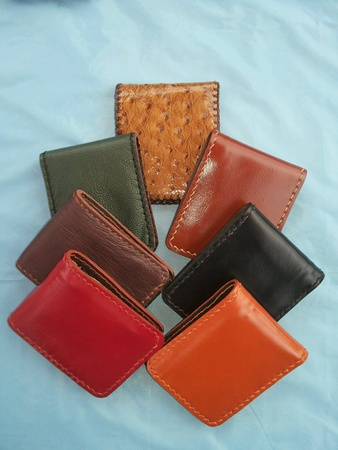 colour: handmade wallet of leather