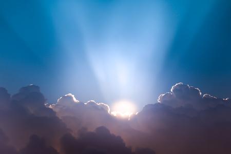 breaking through: Beautiful Cloudscape And Sunrise Breaking Through cloud