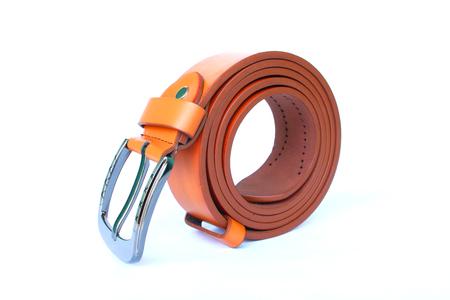 belt orange color on isolated white