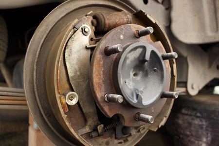 Car drum break system Stock Photo