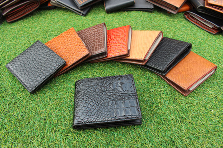 group wallets of leather