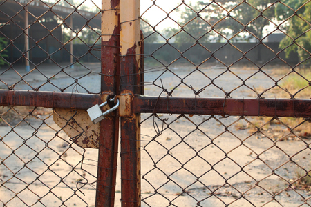 locked: key chain locked door Stock Photo