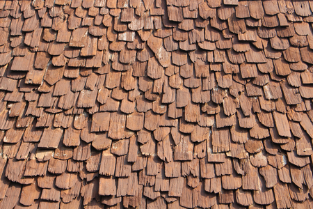 roof of wood background Stock Photo