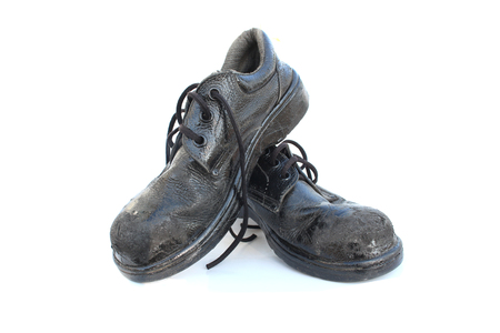 Old Safety Shoes on isolated