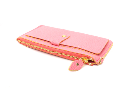 pink purse on isolated