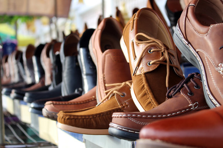 shoes leather background Standard-Bild