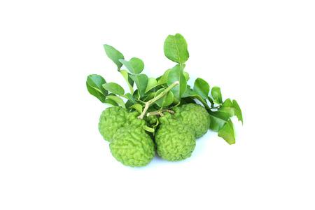Bergamot fruit on isolated white