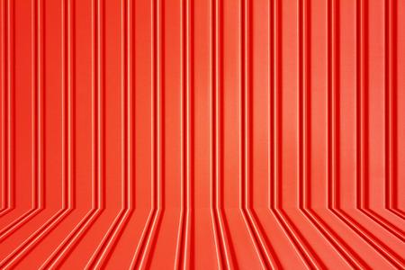 red metal security roller door background Stock Photo