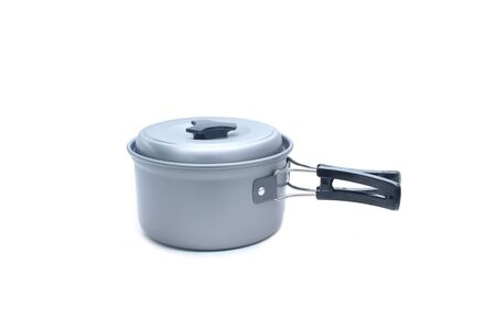Camping pot on isolated white background