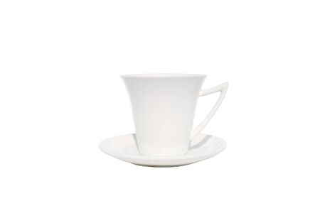 coffee cup on isolated white