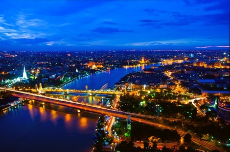 Memorial Bridge in bangkok photo