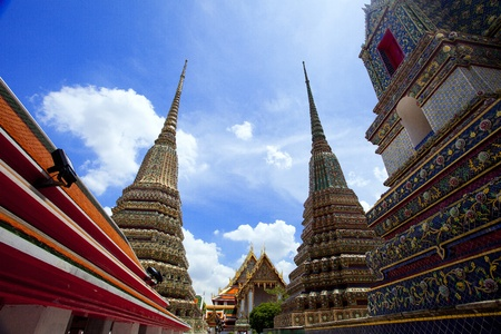 historical sites: Wat Pho, the oldest historical sites in Thailand and that Thailand Stock Photo