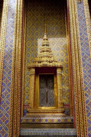Tile art on the temple wall Wat Ratchabophitsathitmahasimaram Bangkok, Thailand Stock Photo