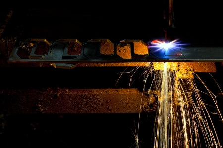 Industrial laser cutter with sparks Stock Photo - 16248815