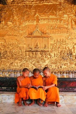 Wat Xieng Thong World Heritage City Priests studied theology  Editorial
