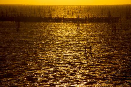 life of fisher men in lake in Songkhla. photo