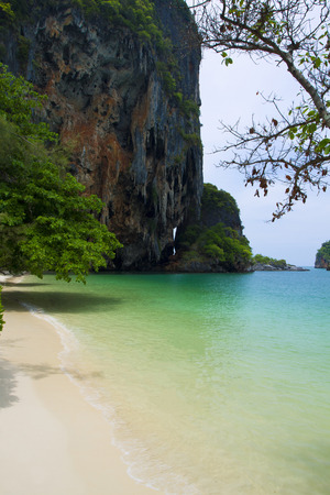 rocks on Railay beach in Krabi Thailand photo