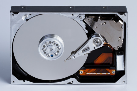 hard drive crash: Hard disk drive HDD isolated on white background