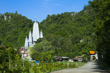 The khao rup chang cave tempie, the bodh gaya chedi of Thailand. Sadao district of Songkhla Editorial