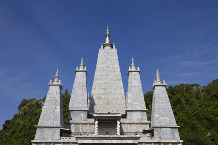 mahabodhy: The khao rup chang cave tempie, the bodh gaya chedi of Thailand. Sadao district of Songkhla Stock Photo