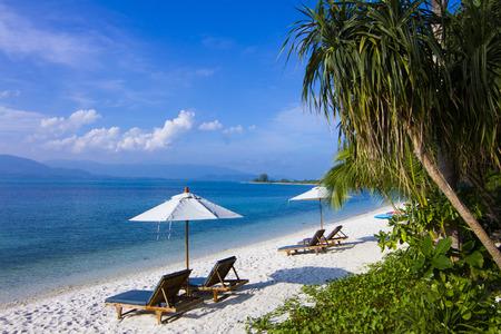 koh: Beds beach koh Matsum Island Koh Samui Thailand.