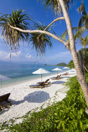Beds beach koh Matsum Island Koh Samui Thailand. photo
