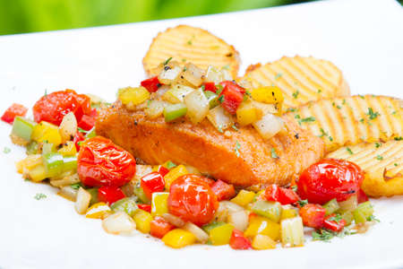 Deep fried carp in sweet-sour sauce, chinese style dish Stock Photo