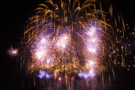 antecedents: Volleys of beautiful fireworks in the night sky.