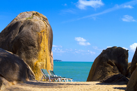 runoff: Location sunny beach of Koh Samui