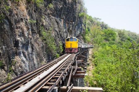 Railway Bridge tham krasae Kanchanaburi Thailand Фото со стока