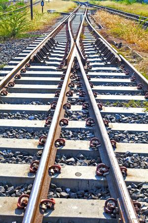 crossings: train tracks at the train depot