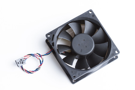 fan cooler cpu.Computer case cooling fan isolated on white background.