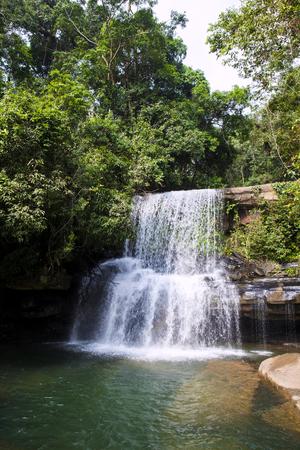 trat: Beautiful waterfalls, HUANG NUM KEAW WATERFALL KOH KOOD TRAT  THAILAND.