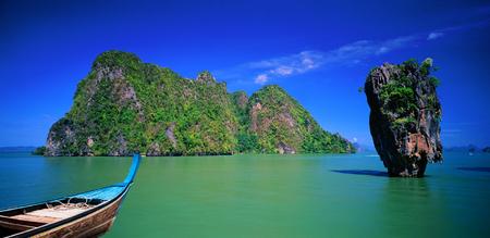 Ships and the sea. James Bond Island,Khao Phing Kan Phangnga Thailand.