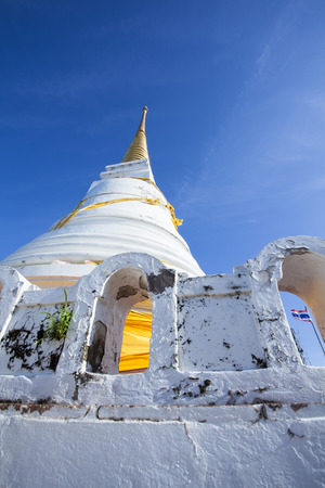 A holy pagoda on the top of Tang Kuan Hill, Songkhla Thailand.