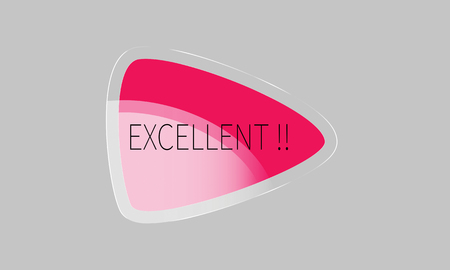 excellent label ,pink and white color . triangle  banner, glossy and badges design.On grey background.