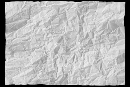 creasy: white sheet of paper on black background