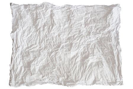 creasy: white sheet of paper on white background