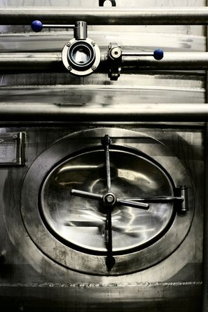 brasserie restaurant: acier inoxydable de machines Brewhouse  Banque d'images
