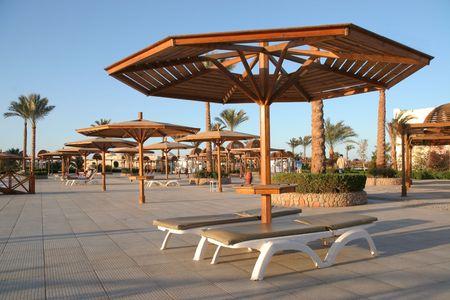 sunshades: sunshades at health resort
